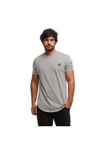 Camiseta Longline Oversized Swag Manga Curta Wooks C1-Cinzaclaro-Gg