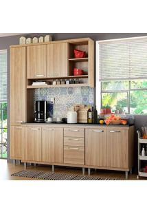 Cozinha Compacta Com Tampo 5 Peças Sicília 5813-S7T - Multimóveis - Argila Acetinado