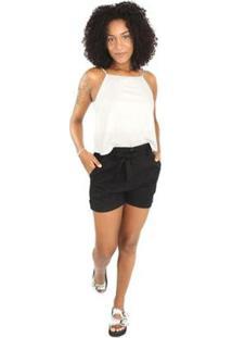 Blusa Alcinha Side B Feminina - Feminino-Branco