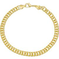 b5ed085db23 Pulseira Grumet Dupla Curb Tudo Jóias Folheada A Ouro 18K - Masculino- Dourado