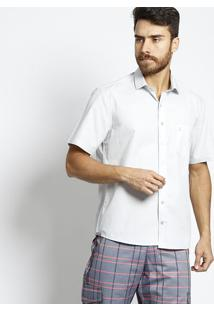 Camisa Confort Fit Com Bolso - Cinza Clarovip Reserva