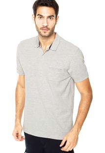Camisa Polo Richards Bolso Cinza