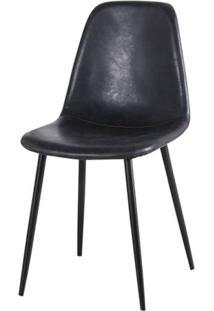 Cadeira Jacob Pu Preto Com Pes Palito Cor Preto - 44990 - Sun House
