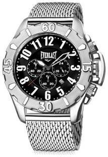 d3d83fc8c8b ... Relógio De Pulso Everlast Analógico Cx Pulseira Aço Silicone - Masculino  Netshoes
