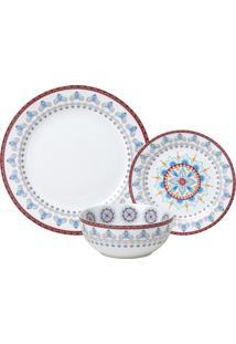 Aparelho De Jantar De Porcelana Super White Upper Wolff – 18 Peças