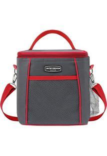 Bolsa Térmica- Cinza Escuro & Vermelha- 21X19X15Cmjacki Design