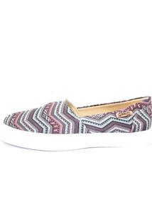 Tênis Quality Shoes Slip On 002 Étnico Azul