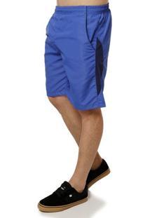 Bermuda De Tecido Masculina Azul