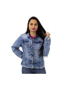 Jaqueta Jeans Ecxo Feminina