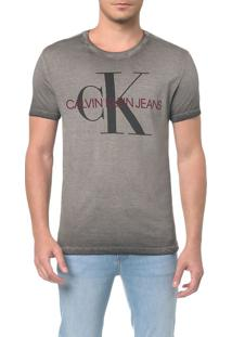 Camiseta Ckj Mc Estampa Ck Peito - Pp