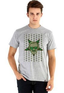 Camiseta Ouroboros Manga Curta Stan Lee - Masculino-Cinza