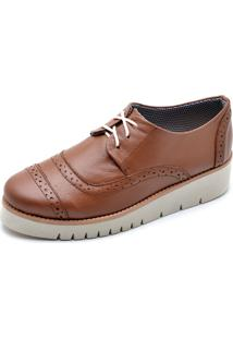 Oxford Top Franca Shoes Casual Caramelo