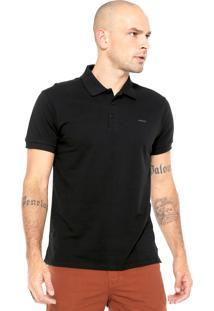 Camisa Polo Colcci Logo Preta