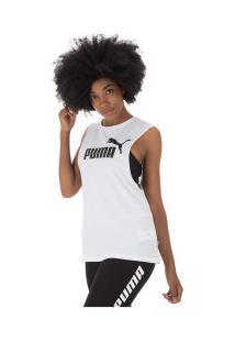 e17c3a3ba0 ... Camiseta Regata Puma Essentials Cut Off - Feminina - Branco