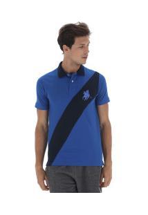 Camisa Polo Polo Us 194 - Masculina - Azul/Azul Esc