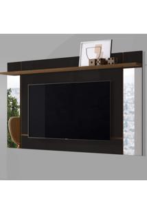 Painel Para Tv Até 65 Polegadas Malibu Belaflex Preto Fosco/Nature