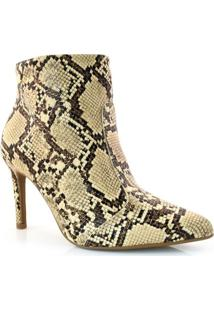Ankle Boots De Cobra E Salto Alto Vizzano