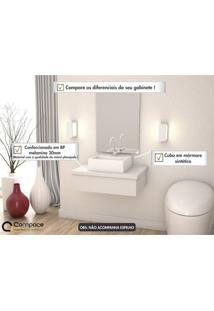 Conjunto Para Banheiro Gabinete Com Cuba Q32 600W Metrópole Compace Branco Chess