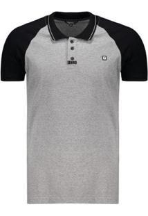 Camisa Polo Fatal Young Estampada - Masculino-Cinza