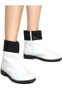 Bota Dafiti Shoes Tratorado Branco