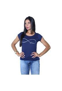 Camiseta Heide Ribeiro Forever Marinho