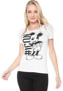 Blusa Cativa Disney Mickey Icon Branca