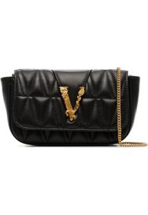 Versace Quilted Shoulder Bag - Preto