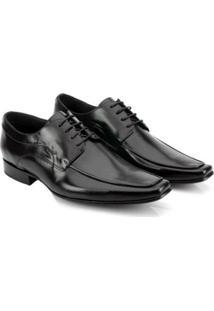 Sapato Social Couro Teselli Masculino - Masculino-Preto