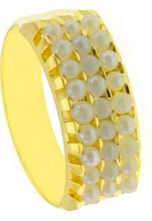Alianã§A Horus Import Tripla Banhada Ouro Amarelo 18 K Dourado - Amarelo/Dourado - Feminino - Dafiti