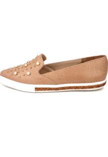 Sapatilha Trivalle Shoes Réptil Nude