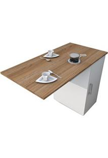 Mesa Bancada Gourmet Para Cozinha Enjoy Bac 3400 Castanho/Branco - App