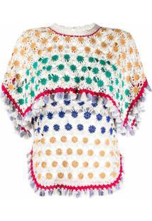Isabel Marant Blusa De Crochê Floral - Branco