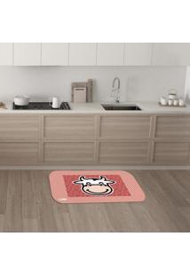 Tapete De Cozinha Mdecore Vaquinha Vermelho 40X60Cm