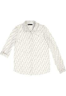 Camisa Manga Longa Feminina Em Tecido De Viscose Estampada