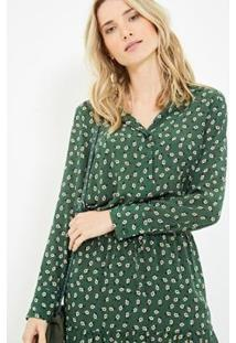 Camisa Ateen Seda Vega - Feminino-Verde