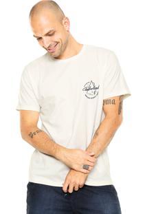 Camiseta Timberland Logo Bege