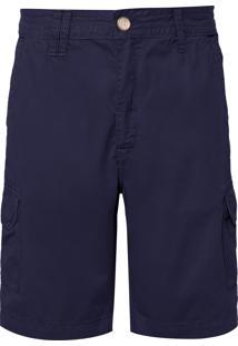 Bermuda Masculina Cargo - Azul