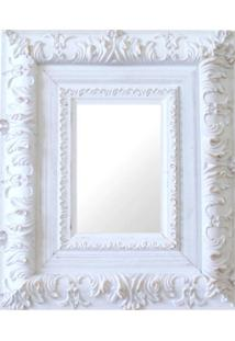 Espelho Moldura Rococó Externo 16172 Branco Patina Art Shop
