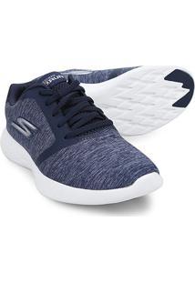 Tênis Skechers Go Run 600 Divert Feminino - Feminino-Azul Escuro