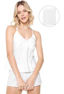 Pijama Malwee Liberta Texturizado Branco