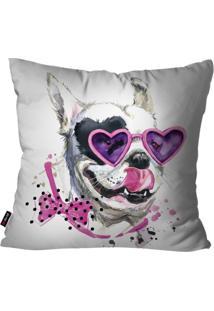 Capa De Almofada Avulsa Branco Dog Love 60X60Cm
