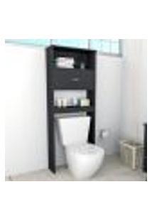 Armário De Banheiro Slim Com 2 Portas - Preto