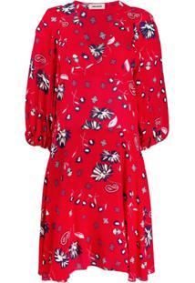 Zadig&Voltaire Vestido Casual Com Estampa Floral - Vermelho