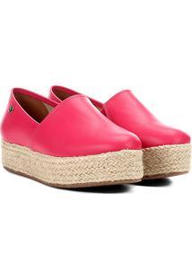 Espadrille Vizzano Flatfom Feminina - Feminino-Pink