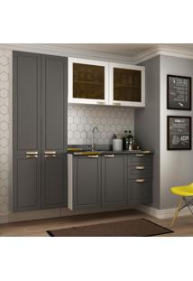 Cozinha Completa 3 Peças Americana Multimóveis 5673S Branco/Grafite