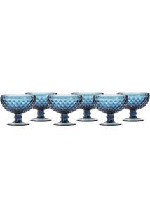 Jogo Com 6 Taças Para Sobremesa 310 Ml Hauskraft Azul