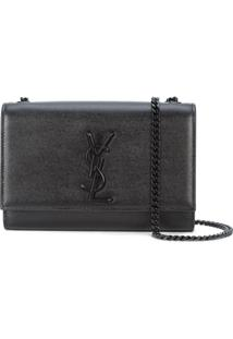 Saint Laurent Bolsa Tiracolo Kate - Preto