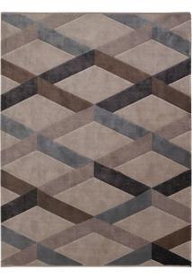 Tapete Pixel D- Cinza & Marrom Escuro- 290X200Cmtapete Sã£O Carlos