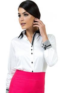 e816080be0 ... Camisa Social Branca Principessa Gisele Branco
