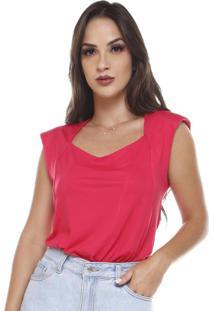Blusa Com Ombro Estruturado Pink